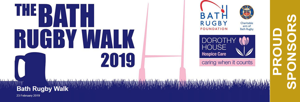 We are proud to be a sponsor the bath rugby walk 2019